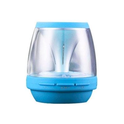 Enceinte portable sans fil Bluetooth LED lumineuse kit main libre Bleu Enceinte portable sans fil Bluetooth LED lumineuse kit main libre Bleu Yonis