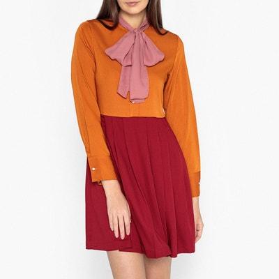 Robe tricolore à lavallière Robe tricolore à lavallière SISTER JANE