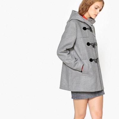 Manteau court gris chine femme