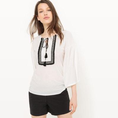 T-shirt con scollo rotondo tinta unita, maniche lunghe T-shirt con scollo rotondo tinta unita, maniche lunghe La Redoute Collections