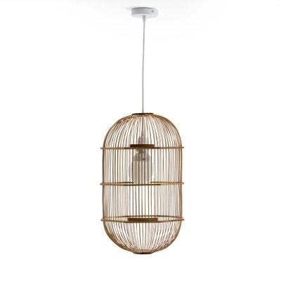 Pantalla de lámpara de techo Arapinn estilo jaula de bambú, no electrificada Pantalla de lámpara de techo Arapinn estilo jaula de bambú, no electrificada AM.PM.