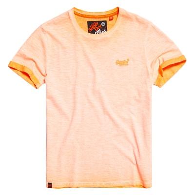 T-shirt de gola redonda, mangas curtas T-shirt de gola redonda, mangas curtas SUPERDRY