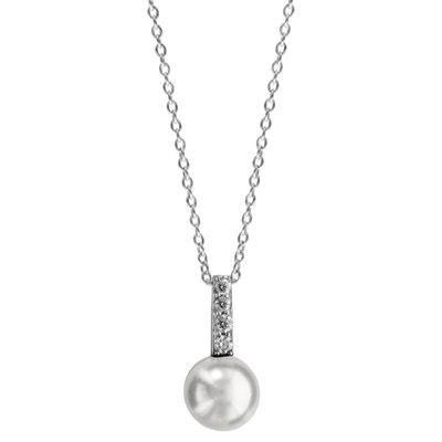 cddccde9d8963 Collier Longueur Réglable  40 à 44 cm Pendentif Perle Blanche 4 Blanc Argent  925 SO. SO CHIC BIJOUX