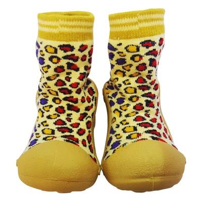 Chaussons-chaussettes antidérapants LEOPARD Chaussons-chaussettes  antidérapants LEOPARD C2BB 88823f1b404b