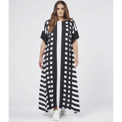 Платье длинное расклешенное с графическим рисунком Платье длинное расклешенное с графическим рисунком MAT FASHION