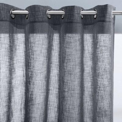 voilage blanc et gris en solde la redoute. Black Bedroom Furniture Sets. Home Design Ideas