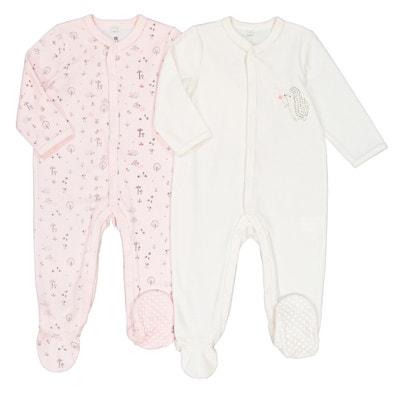 Confezione da 2 pigiama nascita in velluto prematuro - 2 anni Confezione da 2 pigiama nascita in velluto prematuro - 2 anni La Redoute Collections
