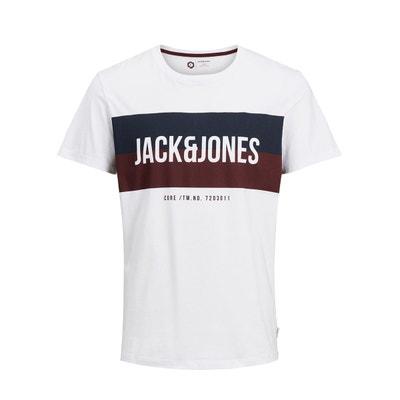 Tee shirt col rond manches courtes JACK & JONES