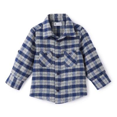 Camisa con cuello polo, de manga larga Camisa con cuello polo, de manga larga La Redoute Collections
