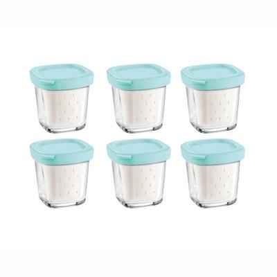 Delices box XF100101 (6 yoghurtbekers met uitlek) voor yoghurtbereiders Delices en Multi Delices SEB