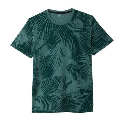 T-shirt col rond imprimé feuillage La Redoute Collections