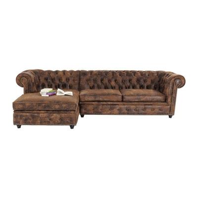 Canapé d'angle Oxford Vintage Rivet gauche Kare Design KARE DESIGN