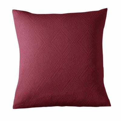 Capa de almofada pequena ou grande em algodão jacquard, INDO Capa de almofada pequena ou grande em algodão jacquard, INDO La Redoute Interieurs