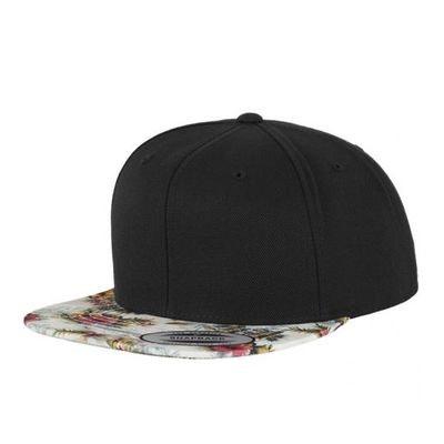 9092752d163d7 Casquette Snapback Flexfit Floral Mint Noir FLEXFIT
