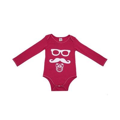 a5b02cec8f848 Body bébé Moustache rose 18 mois POUSSIN BLEU