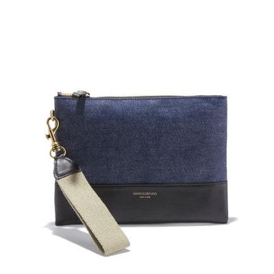 Coated Linen Zip-Up Clutch Bag Coated Linen Zip-Up Clutch Bag VANESSA BRUNO