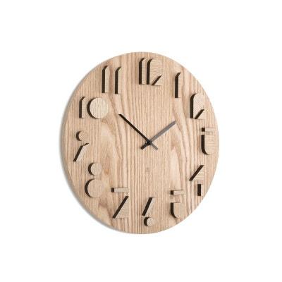 Horloge horloge murale design en solde la redoute for Grande horloge murale solde