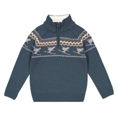 Пуловер с воротником-стойкой, 3-12 лет Пуловер с воротником-стойкой, 3-12 лет La Redoute Collections