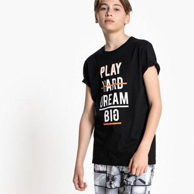T-shirt col rond avec motif 10-16 ans La Redoute Collections