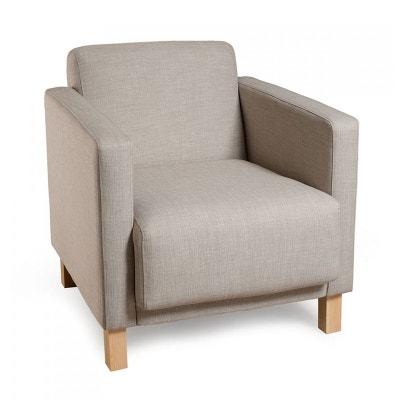 fauteuil tissu couleur lin 67x75x72cm pastel pier import - Fauteuil En Tissu