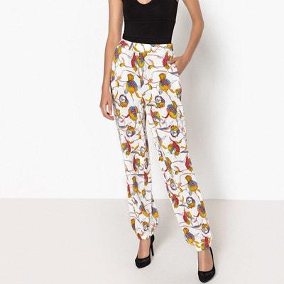 Pantalon large imprimé, bas de jambes élastiqués La Redoute Collections
