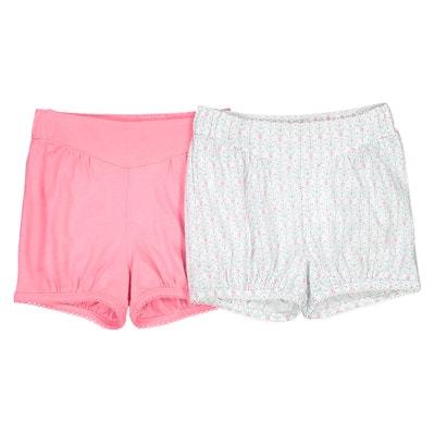 Confezione da 2 shorts in coton 1 mese - 3 anni Oeko Tex La Redoute Collections