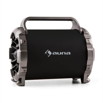 auna Blaster M Enceinte portable Bluetooth effet de lumière LED AUX SD USB FM auna Blaster M Enceinte portable Bluetooth effet de lumière LED AUX SD USB FM AUNA
