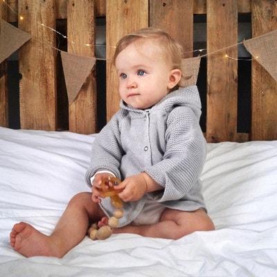 Gilet en tricot à capuche - 0 mois - 3 ans Gilet en tricot à capuche - 0 mois - 3 ans LA REDOUTE COLLECTIONS
