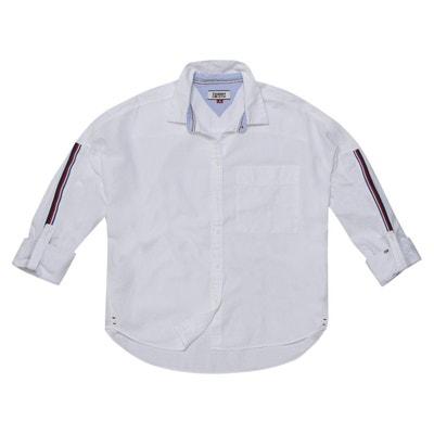 Chemise droite col polo, chemise uni TOMMY JEANS 93801195fc7c