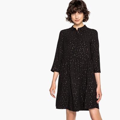 Платье расклешенное средней длины с длинными рукавами Платье расклешенное средней длины с длинными рукавами VILA