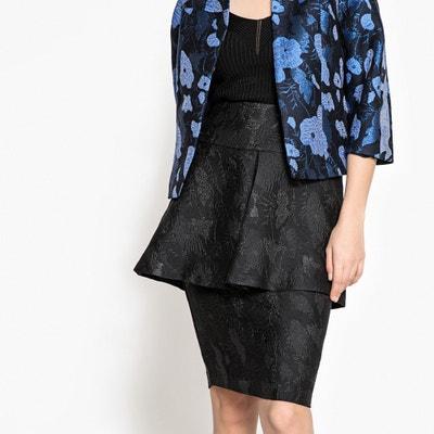 Peplum Jacquard Skirt MADEMOISELLE R