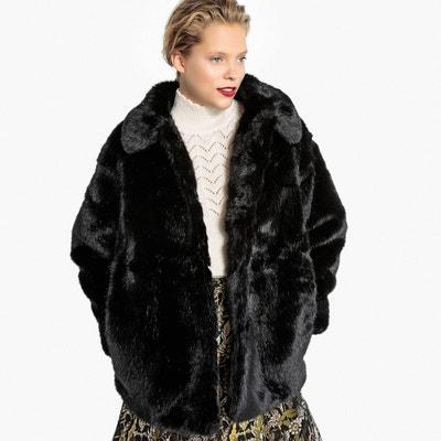 Abrigo corto con cuello de pelo sintético Abrigo corto con cuello de pelo sintético MADEMOISELLE R