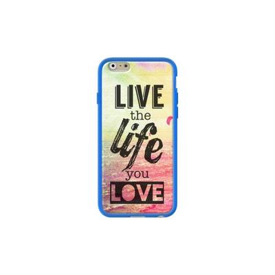 Coque pour Apple iPhone 6 6s côtés silicone Bleu Brillant Live The Life You Love par Mary Nesrala THE KASE