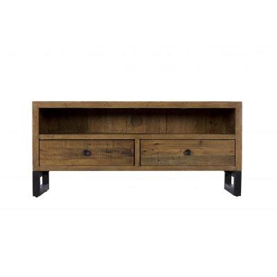 Meuble TV Bois recyclé 2 tiroirs 120x45x55cm BRISBANE PIER IMPORT