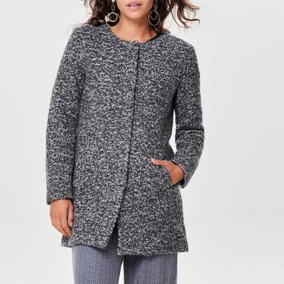 Пальто прямого покроя из полушерстяной ткани букле Пальто прямого покроя из полушерстяной ткани букле ONLY