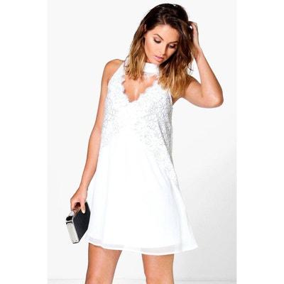Robe ete blanche courte