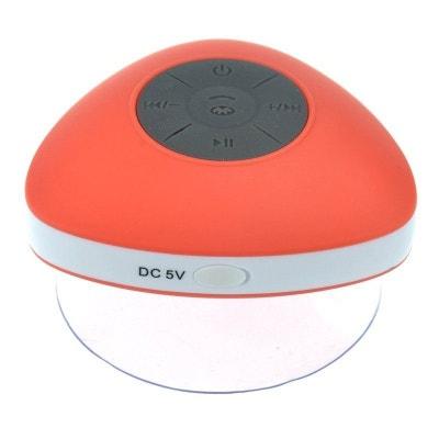 Mini enceinte Bluetooth triangle main libre ventouse waterproof rouge Yonis
