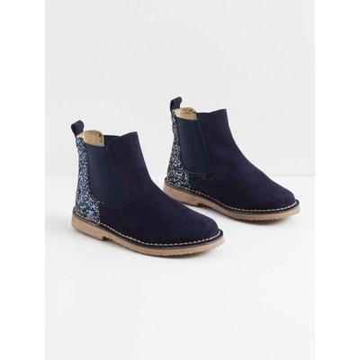 Boots fille cuir et paillettes Boots fille cuir et paillettes CYRILLUS