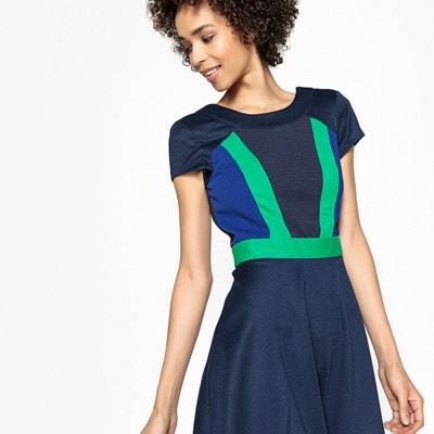 Vestido color block evasé La Redoute Collections