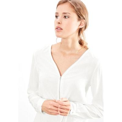 Blusa lisa com decote em V, mangas compridas Blusa lisa com decote em V, mangas compridas S OLIVER