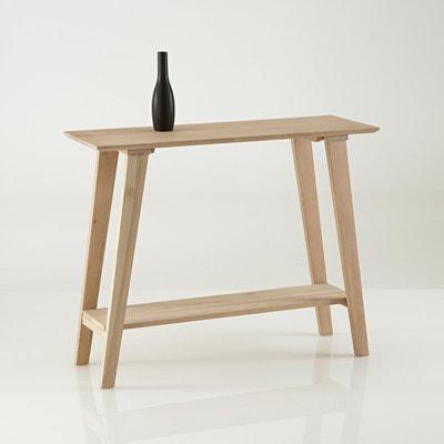 OAKY Console Table In Bleached Oak La Redoute Interieurs