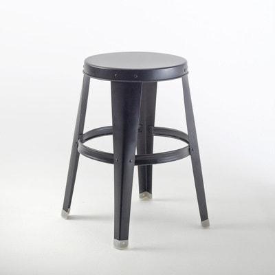 tabouret m tal noir la redoute. Black Bedroom Furniture Sets. Home Design Ideas