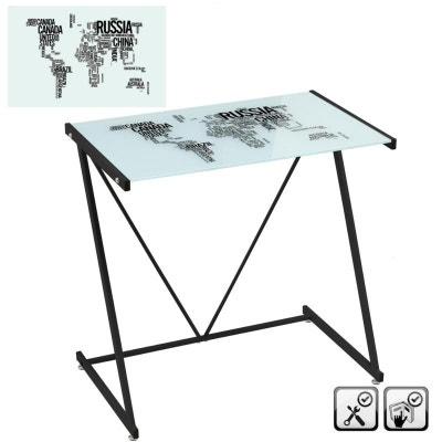 bureau metal blanc en solde la redoute. Black Bedroom Furniture Sets. Home Design Ideas