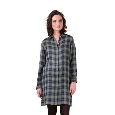 b611d480f9b91 Robe-chemise De Grossesse à Carreaux Navajo 1 ET 1 FONT 3