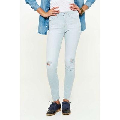 Jeans Wrangler Skinny High Rise Bleu Clair Femme WRANGLER