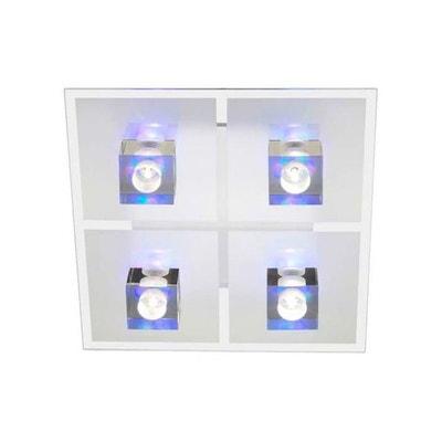 Plafonnier 4 lumières avec décoratives RGB et télécommande SANDOR 4x16W G4 VERRE TRANSPARENT - BRILLIANT - G93884_00 BRILLIANT