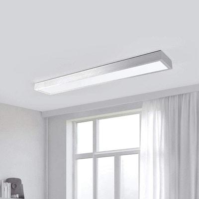 LED-Deckenlampe Esila Lampenwelt eckig Lang Deckenleuchte LED Küche Büro Alu