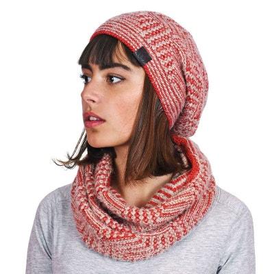 93ad5cf7e2cd Snood et bonnet Agora Rouge - Fabriqué en europe Snood et bonnet Agora  Rouge - Fabriqué. MOKALUNGA