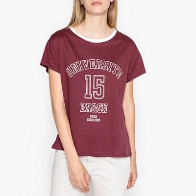 004edfe26c2ce T-shirt col rond imprimé devant T-shirt col rond imprimé devant BA SH.  Soldes