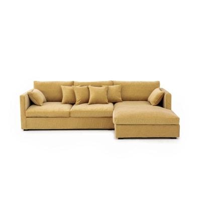Canapé d'angle Néo Kinkajou, velours stonewashed AM.PM
